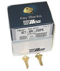 Get a box of blank Schlage keys from Realty Rekey