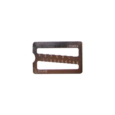Buy a Kwikset/Schlage key gauge from Realty Rekey